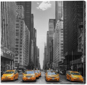Canvastavla Avenue med taxi i New York.