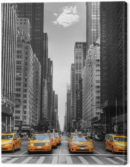 Canvastavla Avenue med taxi i New York.