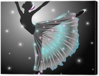 Canvastavla Ballerinabalettdansare-Star Dance-Classic Vector
