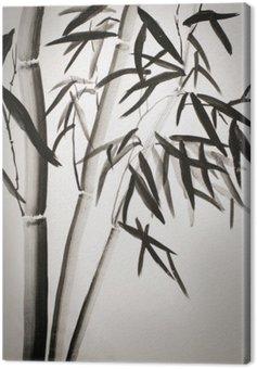Canvastavla Bambu blad
