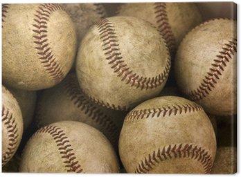 Canvastavla Baseballs