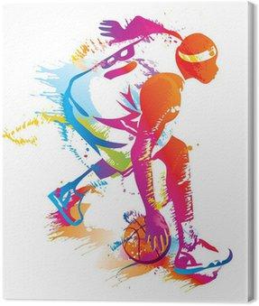 Canvastavla Basket spelare. Vector illustration.