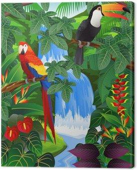Canvastavla Beauiful tropisk bakgrund