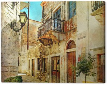 Canvastavla Bild gamla gatorna i Grekland