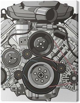Canvastavla Bilmotor front