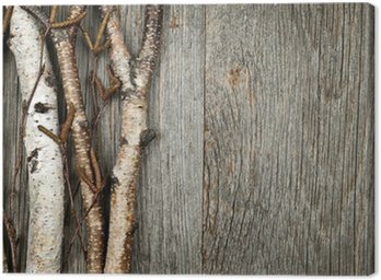 Canvastavla Birch grenar bakgrund