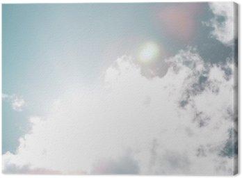 Canvastavla Blå himmel