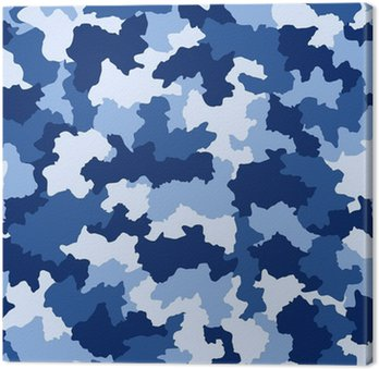 Canvastavla Blå kamouflage seamless