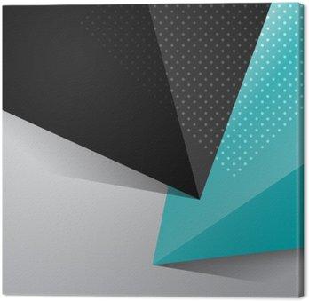 Canvastavla Blå och svart abstrakt design bakgrund