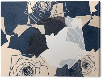 Canvastavla Blommönster sömlösa, EPS 10