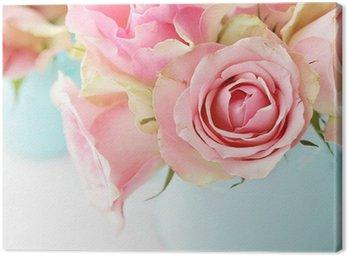 Canvastavla Blommor i en vas