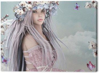 Canvastavla Blossom flicka
