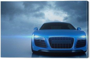 Canvastavla Blue Sport Car