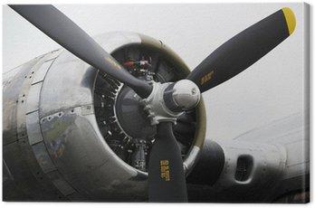 Canvastavla Bombplan flygplansmotor