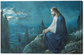 Canvastavla Bön Jesus i Getsemane trädgård.