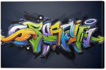 Canvastavla Bright graffiti bokstäver
