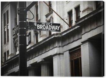 Canvastavla Broadway tecken