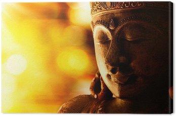 Canvastavla Brons buddha staty