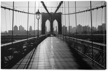 Canvastavla Brooklyn Bridge, Manhattan, New York, USA
