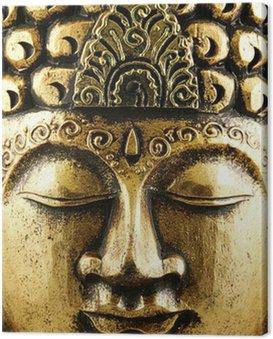 Canvastavla Buddha guld Bakgrund