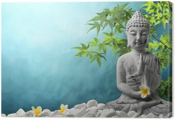 Canvastavla Buddha i meditation