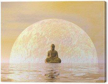 Canvastavla Buddha meditation - 3d