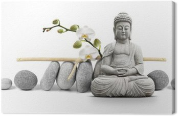 Canvastavla Buddha och Wellness