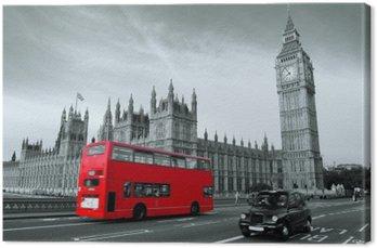 Canvastavla Buss i London