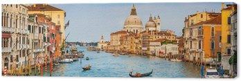 Canvastavla Canal Grande panorama vid solnedgången, Venedig, Italien
