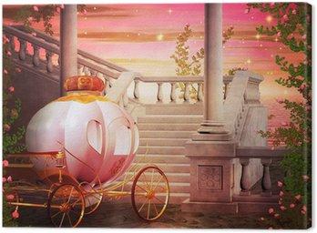 Canvastavla Carriage Castle Fantasy Kuliss