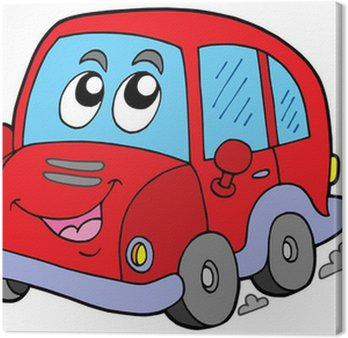 Canvastavla Cartoon Car