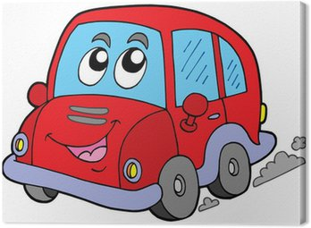 Canvastavla Cartoon Car