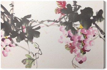 Canvastavla Chinese bläckdruv ritningen