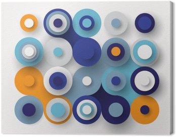 Canvastavla Cirklar platt bakgrund