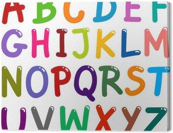 Canvastavla Colorful versaler alfabetet