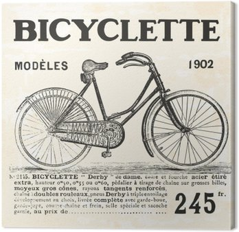 Canvastavla Cykel för Girl