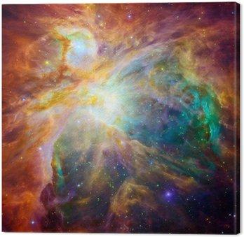 Canvastavla Den kosmiska moln kallas Orion Nebula