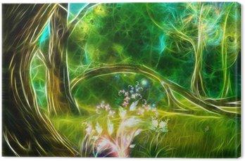 Canvastavla Den magiska skogen