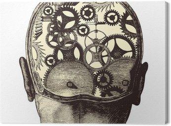 Canvastavla Den mekaniska hjärnan