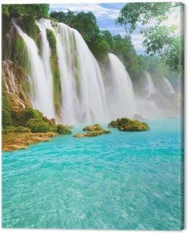 Canvastavla Detian vattenfall