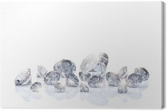 Canvastavla Diamanter