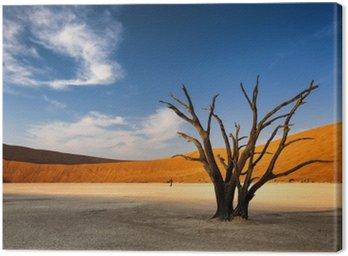 Canvastavla Döda träd i Sossusvlei i Namiböknen, Namibia
