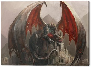 Canvastavla Draken slott