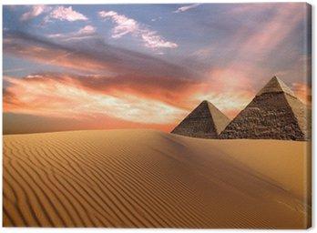 Canvastavla Egypten