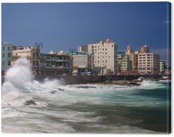 Canvastavla El Malecon, Havanna