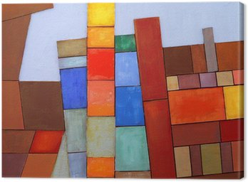 Canvastavla En målad Abstrakta collage