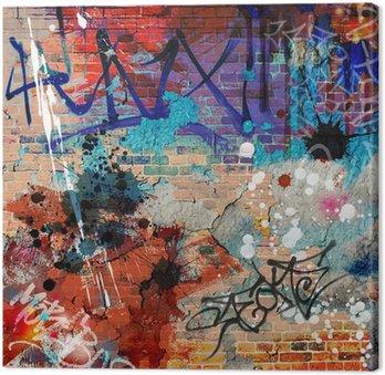 Canvastavla En Messy Graffiti Wall Bakgrund