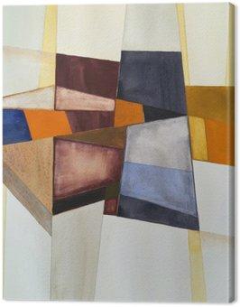 Canvastavla En modernistisk abstrakt vattenfärg