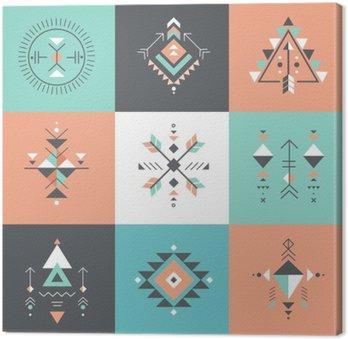 Canvastavla Esoteriska, Alchemy, sakral geometri, stam och Aztec, sakral geometri, mystiska former, symboler