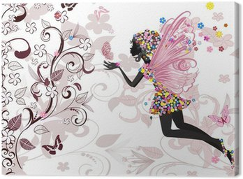 Canvastavla Fairy mönster